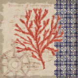 Burlap Coral II Prints by Paul Brent