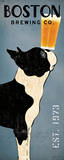 Boston Terrier Brewing Co Panel Plakater af Ryan Fowler
