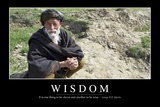 Wisdom: Inspirational Quote and Motivational Poster Fotografie-Druck