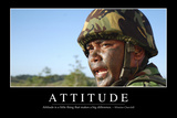 Attitude: Inspirational Quote and Motivational Poster Fotografisk tryk