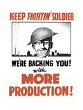 Vintage World War II Propaganda Poster Poster