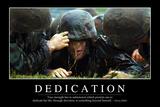 Dedication: Inspirational Quote and Motivational Poster Lámina fotográfica