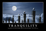 Tranquility: Inspirational Quote and Motivational Poster Stampa fotografica