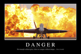 Danger: Inspirational Quote and Motivational Poster Stampa fotografica
