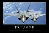 Triumph: Inspirational Quote and Motivational Poster Fotografie-Druck