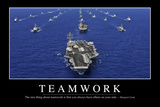 Teamwork: Inspirational Quote and Motivational Poster Fotografisk tryk