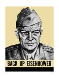 World War II Propaganda Poster Featuring General Dwight Eisenhower Plakater