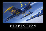 Perfection: Inspirational Quote and Motivational Poster Stampa fotografica
