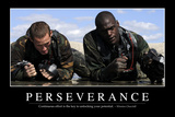 Perseverance: Inspirational Quote and Motivational Poster Fotografie-Druck