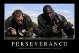 Perseverance: Inspirational Quote and Motivational Poster Lámina fotográfica