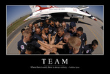 Team: Inspirational Quote and Motivational Poster Fotografie-Druck