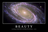 Beauty: Inspirational Quote and Motivational Poster Fotografie-Druck