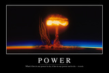 Power: Inspirational Quote and Motivational Poster Fotografie-Druck