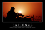 Patience: Inspirational Quote and Motivational Poster Stampa su tela