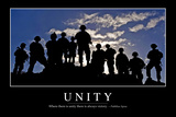Unity: Inspirational Quote and Motivational Poster Fotografie-Druck