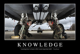 Knowledge: Inspirational Quote and Motivational Poster Fotografie-Druck
