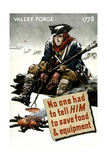 World War II Poster of a Revolutionary War Soldier Cooking over a Fire Poster