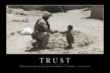 Trust: Inspirational Quote and Motivational Poster Stampa fotografica