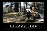 Relaxation: Inspirational Quote and Motivational Poster Fotografie-Druck