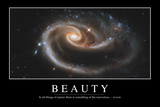 Beauty: Inspirational Quote and Motivational Poster Lámina fotográfica