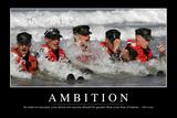 Ambition: Inspirational Quote and Motivational Poster Lámina fotográfica