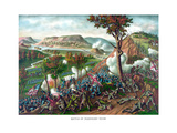 American Civil War Print Featuring the Battle of Missionary Ridge Plakater