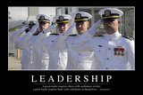 Leadership: Inspirational Quote and Motivational Poster Fotografie-Druck