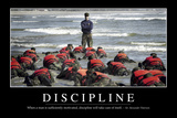 Discipline: Inspirational Quote and Motivational Poster Stampa fotografica