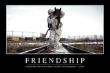 Friendship: Inspirational Quote and Motivational Poster Stampa fotografica