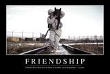 Friendship: Inspirational Quote and Motivational Poster Lámina fotográfica