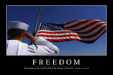 Freedom: Inspirational Quote and Motivational Poster Fotografie-Druck