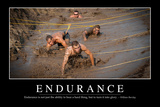 Endurance: Inspirational Quote and Motivational Poster Lámina fotográfica
