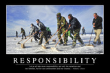 Responsibility: Inspirational Quote and Motivational Poster Stampa fotografica