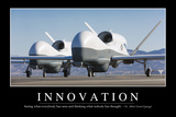 Innovation: Inspirational Quote and Motivational Poster Fotografie-Druck