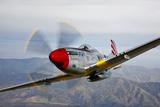 A P-51D Mustang in Flight Near Prescott, Arizona Valokuvavedos