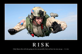 Risk: Inspirational Quote and Motivational Poster Fotografie-Druck