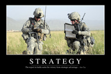 Strategy: Inspirational Quote and Motivational Poster Fotografie-Druck