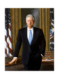 Digitally Restored White House Painting of President Bill Clinton Premium Giclee Print
