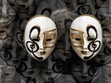 Opera Masks Photographic Print by Margaret Morgan