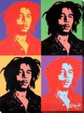 Bob Marley: Pop Art Design Bedruckte aufgespannte Leinwand