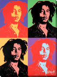 Bob Marley: Pop Art Design Stretched Canvas Print