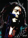 Bob Marley: Electric Bedruckte aufgespannte Leinwand