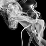 Black Smoke Abstract Square Premium Photographic Print by  GI ArtLab