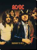 AC/DC: Highway To Hell Bedruckte aufgespannte Leinwand