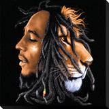 Bob Marley: Lionhead Bedruckte aufgespannte Leinwand