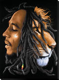 Bob Marley: Lionhead Trykk på strukket lerret
