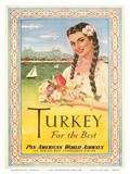 Turkey - For the Best - Pan American World Airways Poster