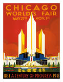 Chicago World's Fair - A Century of Progress, 1833-1933 Giclée-Druck