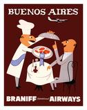 Buenos Aires - Braniff International Airways Lámina giclée