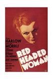 Frau mit rotem Haar Poster